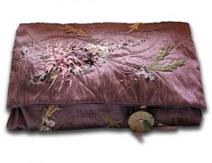 Charlotte Dickson   Mauve Silk Bag